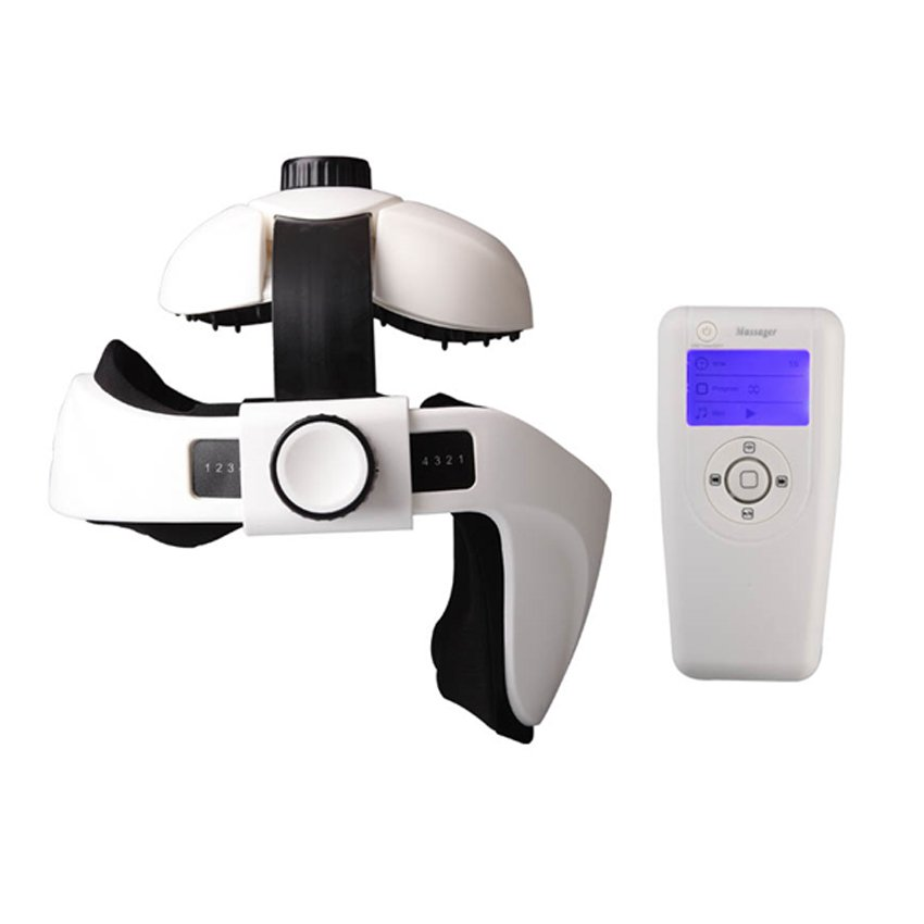 1fe0ece2134 Soothing Hands Free Vibration Motorized Automatic Battery Powered Headtime  Scalp Digital Head Neck Massager